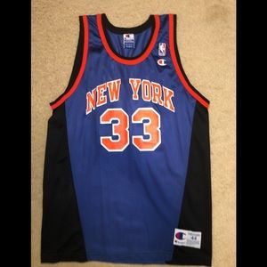 Champion New York Knicks Patrick Ewing jersey